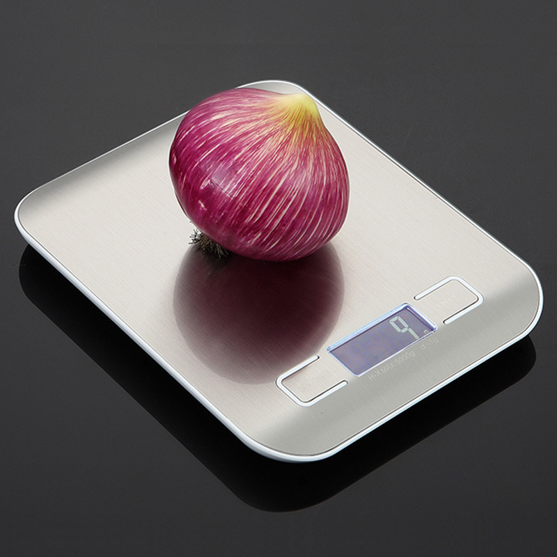 5/10kg Household Kitchen Scale Electronic Food Scales Diet Scales Measuring Tool Slim LCD Digital Electronic Weighing Scale