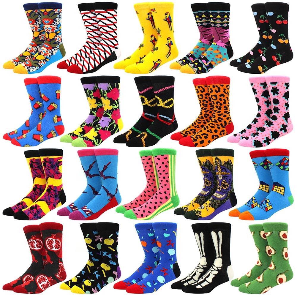new colorful men's winter socks combed cotton soft wear warm men women long socks Calcetines de hombre business dress