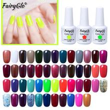 FairyGlo Fluorescent Neon UV Gel Nail Polish Nail Art Gel Varnish Soak Off Vernis Semi Permanant Nails Gel Polish Lacquer 15ml