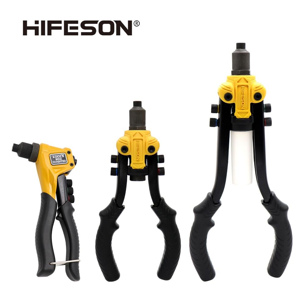 HIFESON Riveter Gun Hand Riveting Kit Nuts Nail Gun Household Repair Tools  Pull Willow Gun Threaded Rivet Inserts