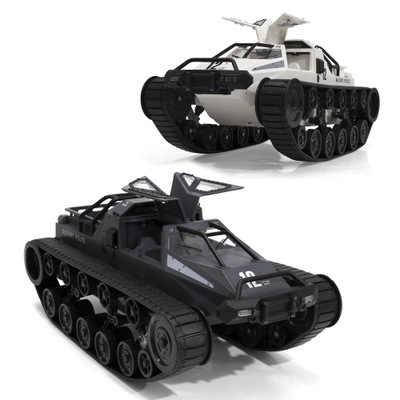 1/12 RC 4WD Drift Tank 2.4G Kecepatan Tinggi EV2 Tangki Rtr Remote Control Kendaraan Lapis Baja 380 Motor Mainan untuk anak-anak