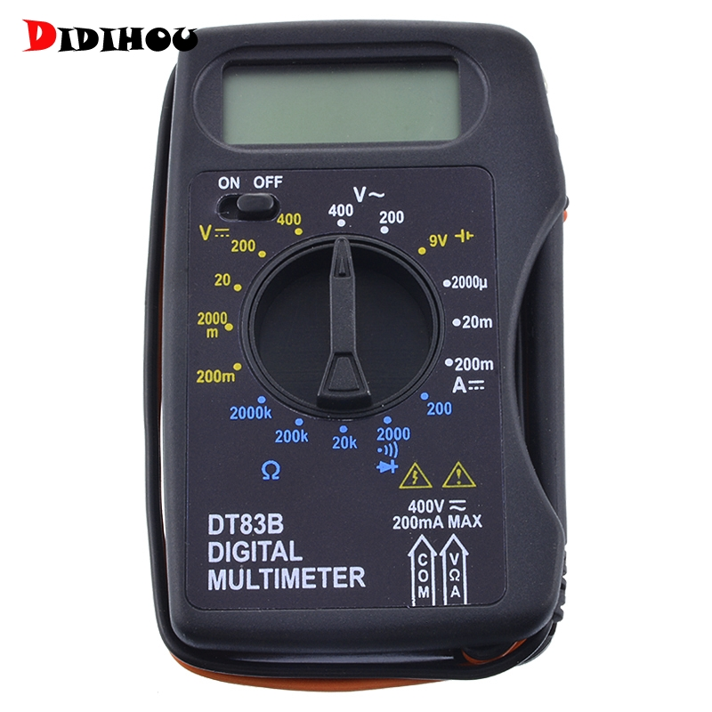 DT83B Pocket Digital Multimeter Ammeter Voltmeter DC/AC Resistor Ohm Voltage Tester Probe Electrical Instruments Professional