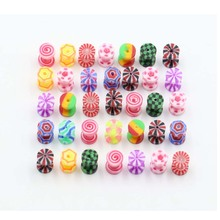 2Pcs Mix Style Acrylic Cheater Faux Fake Ear Plugs Flesh Tunnel Gauges Tapers Stretcher Earring Piercing Jewelry