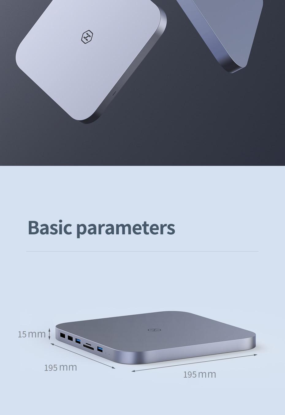 Hagibis USB-C Hub with SATA Hard Drive Enclosure for Mac Mini 9