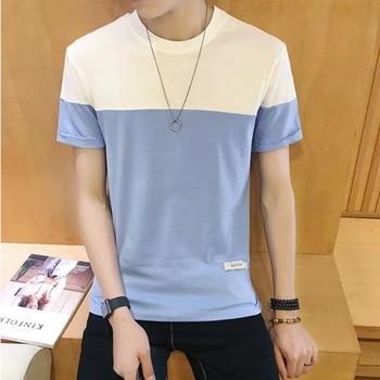 T-shirt Men Slim Style in  Mens Shirt), Half Sleeve Students Menswear Fashion T Shirt