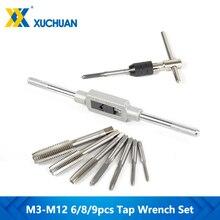 Drill-Set Hand-Tapping-Tools Screw-Thread Metric M3-M12-Tap Twist 6/8/9pcs