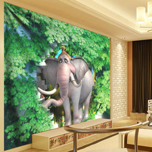 Green Leaves Plant Tapestry Elephant Wall Hanging 3D Mandala Animal Hippie Psychedelic Cloth Boho Decor Carpet Curtain