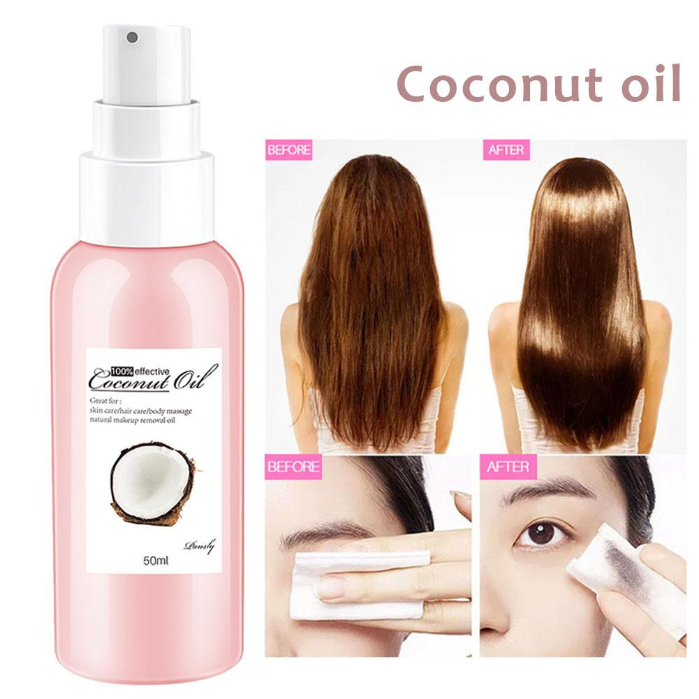 50ML Nature Organic Virgin Coconut Oil For Hair Oils Hairs Essential Oil Hair Loss Care Dry Damaged Hairs Nutrition Coconut Oil