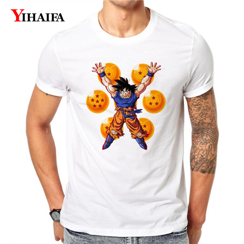 Dragon Ball Z 3D T Shirt Mens Womens Short Sleeve Summer Tees Goku Son Cartoons Graphic Tee Dragon Ball White Tops in T Shirts from Men 39 s Clothing