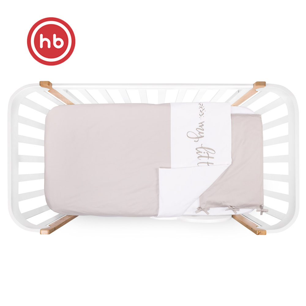 Bedding Sets Happy Baby 87514 children's bed linen in baby cot Cotton white and grey cotton and linen storage bag