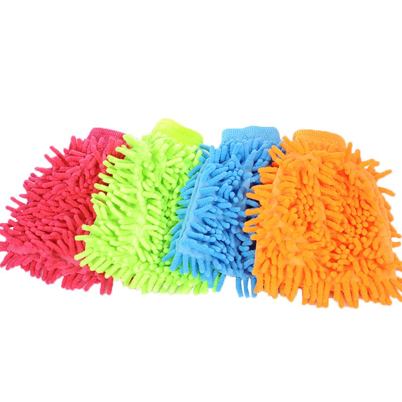 NEW-Chenille Cleaning Gloves Gloves High-quality Non-scratch Large Car Wash And More, House Cleaning Car Wash Gloves, Dusting Gl