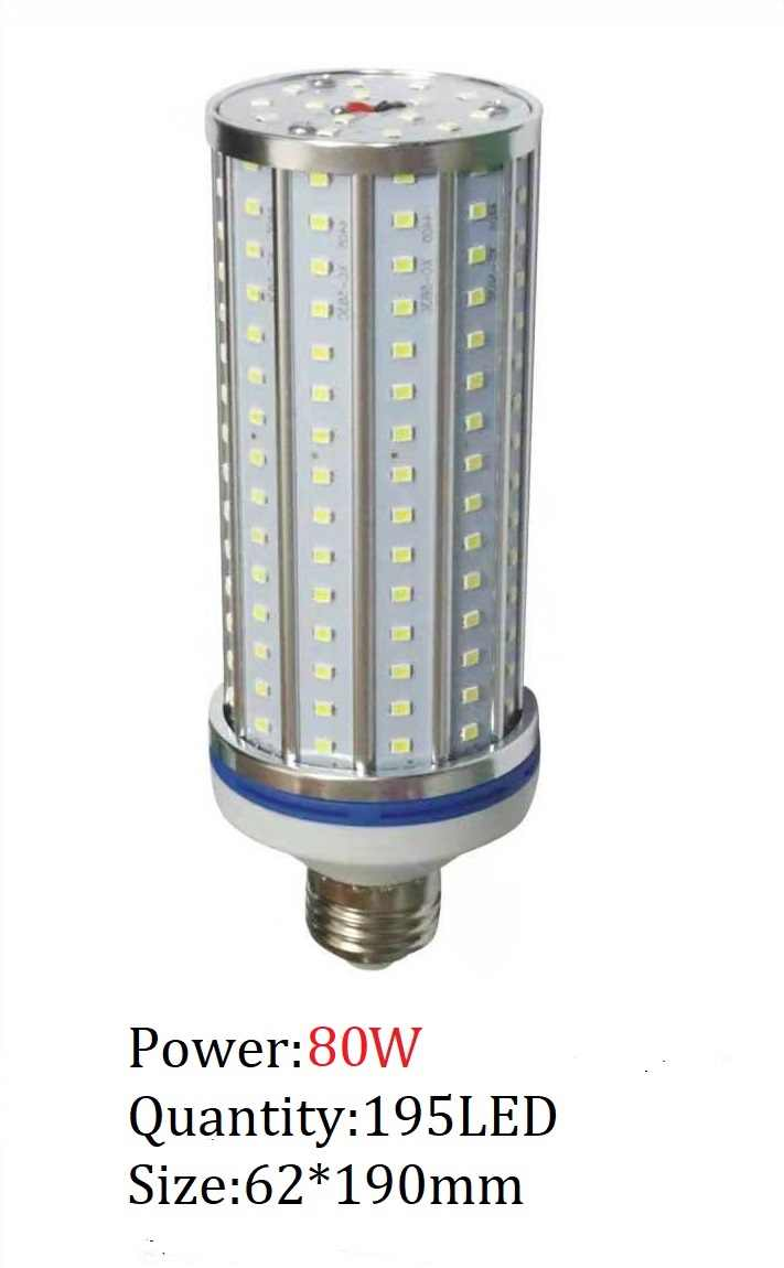 30W 60W 80W 120W חיסכון באנרגיה 2835 מתח גבוה תירס הנורה אלומיניום מנורת E27 E40 LED רחוב ספוט אור 110V 220V Lampada תאורה