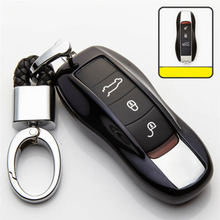 1pc TPU Remote Key Case Cover Black/ Blue/ Silver Strong signal dust-proof For Cayenne Macan Panamera Boxster 911