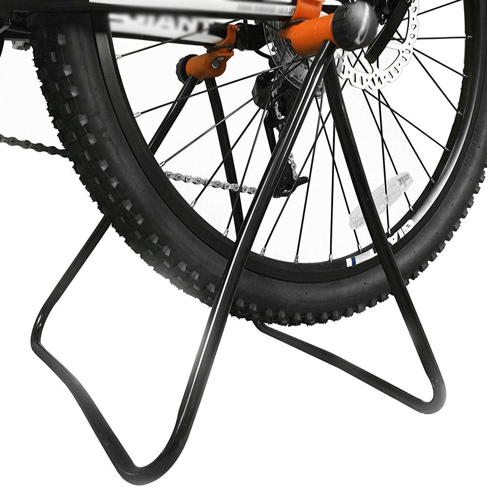 Bicycle Parking Rack Repair Stand Display Adjustable Height Triangle Foldable Holding Rings Bike Holder Vertical Maintenance