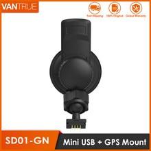 Vantrue n2/n2 pro/r3/x3/t2 traço cam mini porta usb ventosa carro montagem com módulo receptor gps (para windows & mac)