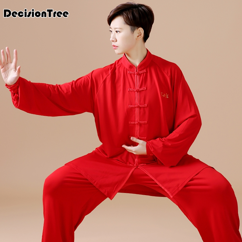 2019 Traditional Chinese Cloth Jiu Jitsu Wushu Kung Fu Uniform Tai Chi Suit Milk Silk Mandarin Collar Chinese Style Floral Print