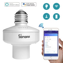 Sonoff Slampher R2 Wireless E27 Lamp Bulb Holder Wifi APP Remote Control Light Base For Alexa Google Assistant For Smart Home(China)