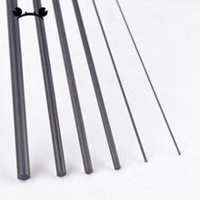 5pcs/lot Carbon Fiber Rods 0.5mm 0.8mm 1mm 1.5mm 2mm 2.5mm 3mm 4mm Length 200mm 400mm Fibra de carbono