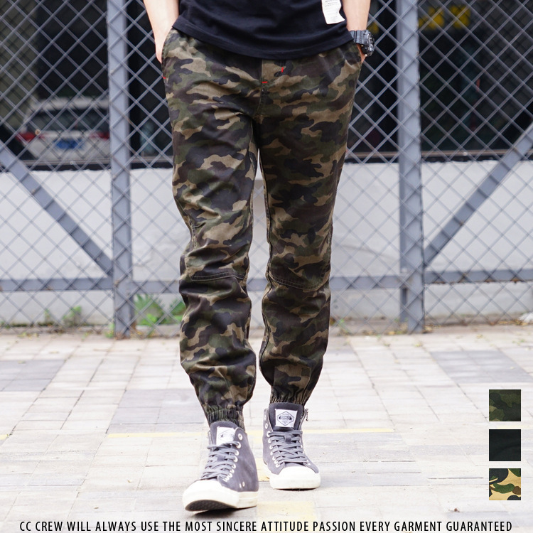 JOGGER Pants Enshadower Shawn Jogger Pants Camouflage Ankle Banded Pants Casual Pants Fashion Man Cotton Trousers Shrinkage Pant