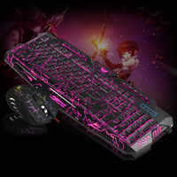 Gaming Keyboard Mouse Combo Backlit LED +Colorful Gaming Mouse Light 7 Buttons for Desktop Laptop SP99