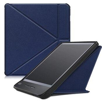 цена Origami case for 2019 released Kobo Libra H2O 7'' inch smart stand cover for new kobo e-reader N873 auto sleep/wake онлайн в 2017 году