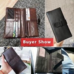 Image 4 - WESTAL wallet mens genuine leather purse for men clutch male wallets long Leather zipper wallet men business money bag 6018