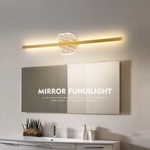Led mirror lamp modern minimalist bathroom sink vanity lamp Nordic creative personality long mirror cabinet lamp