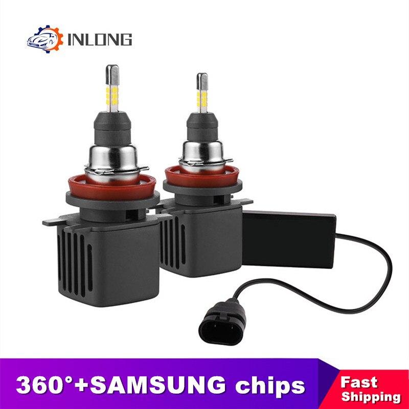 INLONG SAMSUNG Chip 9005 HB3 Led Bulbs H1 H11 H4 H7 9006 HB4 D1S D2S D3S D4S 6500K Car Led Auto Headlamp Headlights Fog Lights