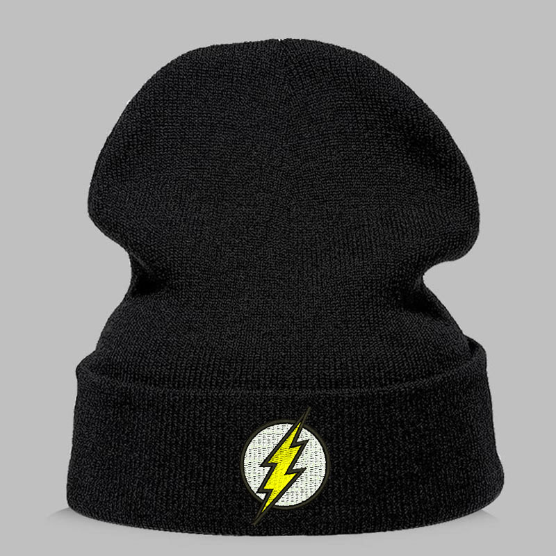 Winter Hat   Beanies     Skullies   Knitted Hat Flash Hero Barry Allen Embroid Knitting Winter Hat Warm Hip-Hop Cap Unisex Teenager Hats