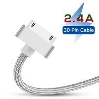 Cable USB de carga rápida para Apple iPhone 4, 4s, 3GS, 3G, iPad 1, 2, 3, iPod Nano touch, adaptador de cargador Original de 30 Pines, Cable de sincronización de datos