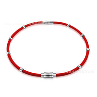 Good quality soft rubber ion energy necklaces antifatigue magnet therapy power necklace