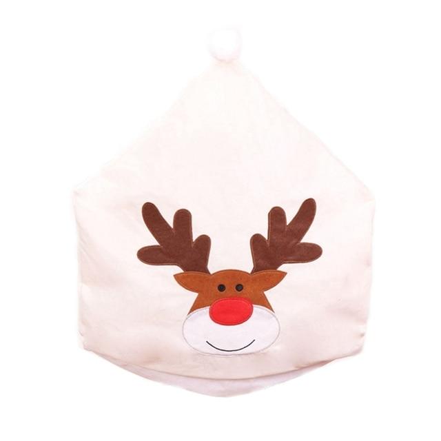 рождественский чехол для стула чехол с вышивкой лося «рождество» фотография