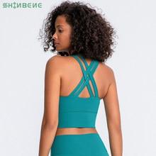 SHINBENE – soutien-gorge de sport rembourré HI CLOUD pour femmes, hauts de gymnastique, sensation de nudité, Yoga, Fitness, course à pied