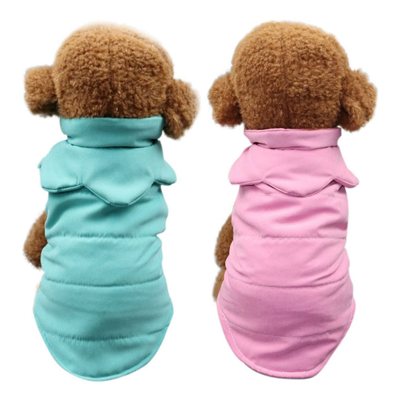 Soft Windproof Fleece Lined Warm Dog Jacket for Puppy Winter Cold Weather Coat