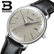 BINGER relojes mecánicos estables y confiables, relojes mecánicos de lujo, movimiento Seiko