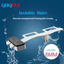 QHQFLY toliet seat bidet shower cold water  self cleaning dual Nozzle Fresh Water Bidet Sprayer Mechanical For Women Children