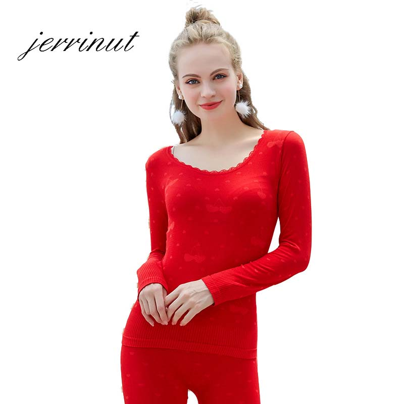 Jerrinut Thermal Underwear Women Long Johns Female Warm For Autumn Winter Round Neck Cotton Warm Women Winter Clothes Thermo Set