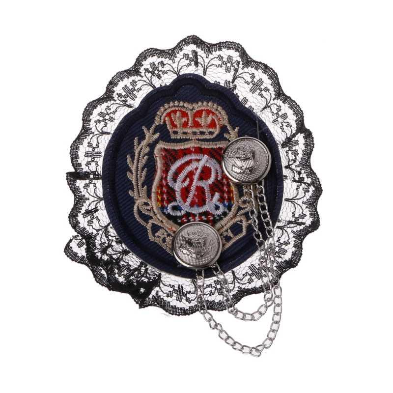 College Lencana Bros Jangkar Kain Bordir Tanda Pangkat Medali Pria Setelan Pin B36D