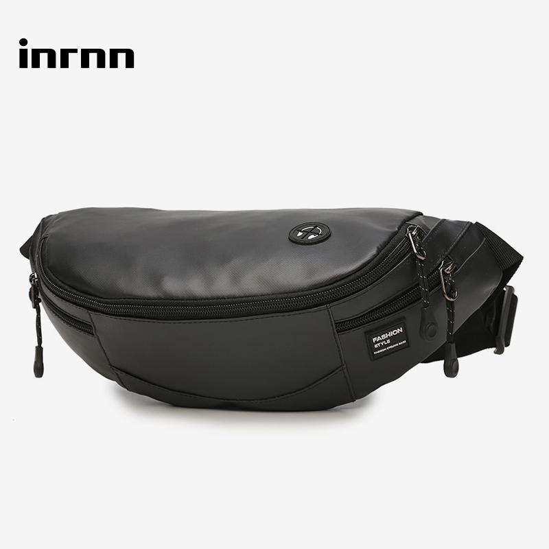 Inrnn Fashion Men Waist Bag Outdoor Sports Chest Bag For Teenager Male Small Running Fanny Pack Travel Crossbody Chest Belt Bags