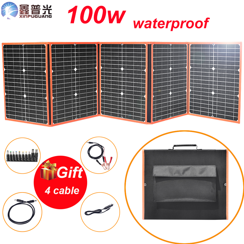 flexible solar panel 100w 80w foldable 12v portable mono charger home kit 5v usb for phone 12v RV car battery travel Boat hiking