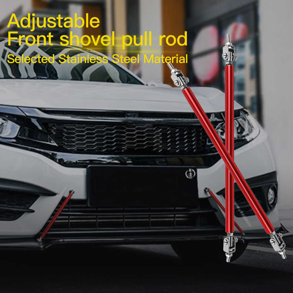 2 шт. Универсальный Автомобильный Передний Задний бампер из нержавеющей стали, регулируемый протектор для губ, штанга, разветвитель, стойка для галстука, комплект поддержки 5