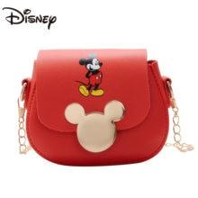 2021 Disney Mickey Cartoon Small Bag Cute Mini Kids Creative Change Cross Slung Decoration with Chain Wallet