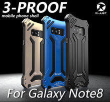 R JUST Case For Samsung S10 Plus S8 S9Plus Case Gundam Armor Shockproof Aluminum Metal Waterproof Case For Samsung Note 8 9 S10E
