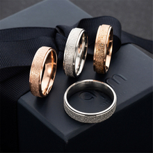Couple Rings Electroplated Frosted Rose-Gold Stainless-Steel Presents Fashionable Loredana