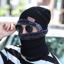 Fashion Knitted Black Ski Hats Thick Warm Hat Cap Bonnet Skullie Beanie Soft Knitted Beanies Cotton Men's Unisex Winter Fall Hat fashion ladies fall winter m standard casual cap thick tweed curved along the hat street to shoot hats wholesale sport hat