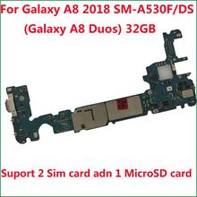 Unlocked Main Motherboard 32GB Logic Board For Samsung Galaxy  A8 2018 A530F SM A530F/DS(Galaxy A8 Duos A530FD)