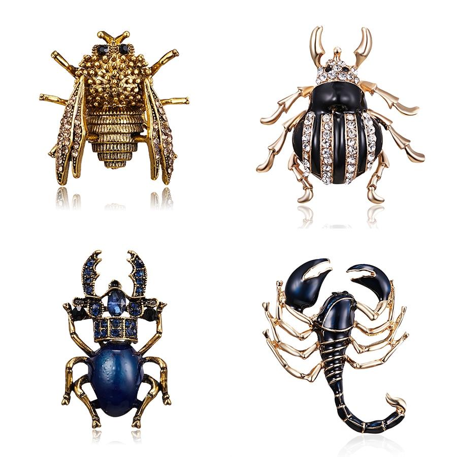 Брошь в виде насекомых, брошь, булавка, модный Скорпион, Цикада, жук, зажим для шарфа, брошь, букет, животное, пальто, костюм, одежда, аксессуар...