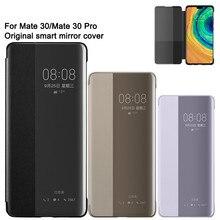 Huawei caso do telefone inteligente vista clara espelho caso da aleta para huawei mate30 companheiro 30 pro habitação função sono telefone inteligente caso