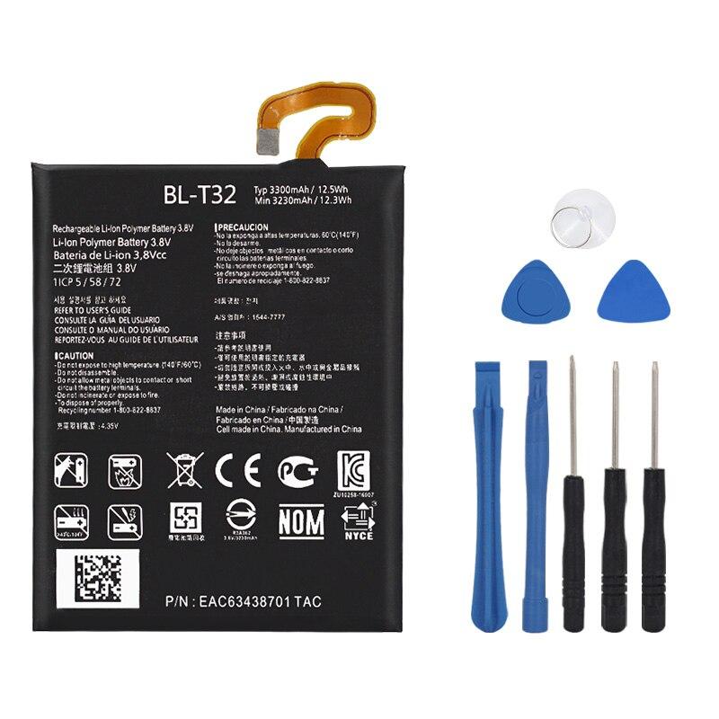 NEW Original BL-T32 Internal Battery For LG G6 G600L G600S G600K G600V H870 H871 H872 H873 LS993 US997 VS988 3300mAh