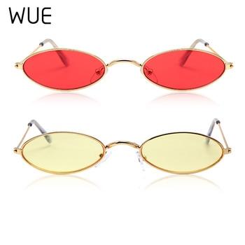 Retro Small Oval Sunglasses Women Female Vintage Hip Hop Balck Glasses Retro Sunglass lady Luxury Brand Eyewear 4